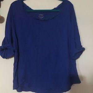 Lane Bryant Royal Blue Cotton Top 22/24